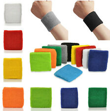 2x Sport Basketball Yoga Unisex Cotton Sweat Wrist Band Sweatband Wristband New