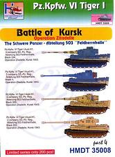 "H-Models Decals 1/35 TIGER I TANK BATTLE OF KURSK ABTEILUNG 503 ""FELDHERRNHALLE"""