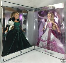 LOT OF 2 2004 2005 HOLIDAY BARBIE USED