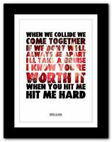 ❤ BIFFY CLYRO Horror  ❤ song words typography poster art  print - A1 A2 A3 or A4