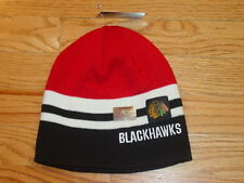 CHICAGO BLACKHAWKS KNIT HAT CAP BEANIE MENS WOMENS NEW OLD TIME SPORTS RED BLACK