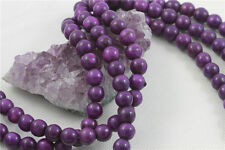 "16"" Howlite Turquoise Loose Beads Round 10mm VIOLET PURPLE"