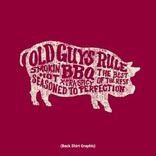 "OLD GUYS RULE "" BBQ PIG "" SMOKIN HOT / BEST OF THE REST / EXTRA SPICY / SIZE XL"