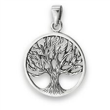 925 Sterling Silver Tree of Life Necklace Pendant Free Silver Box Chain