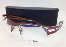 New JF REY Eyeglasses JF 2458 9082 53-20 Semi-Rimless Brown-Pink Frame w/ Clear