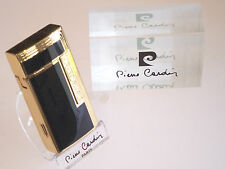 Pierre Cardin Paris Black Lacquer And Gold Lighter With Cigar Cutter New Boxed