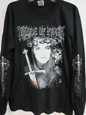 NEW - CRADLE OF FILTH ENGLISH FIRE BAND T-SHIRT LONG SLEEVE MEDIUM
