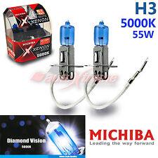 For BMW MICHIBA H3 12V 55W 5000K Xenon Super WHITE Headlight Bulbs Low Beam 2PCS