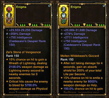 Diablo 3 RoS PS4 [HARDCORE] Patch 2.4 Modded Ring Bundle - 1,000,000,000% Damage