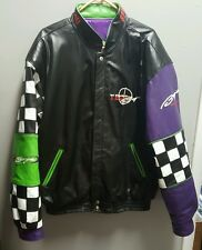 Vintage Team Baja Power Boat Racing Leather Jacket ( Jeff Hamilton) Size XL