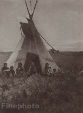 1900/72 Photogravure NATIVE AMERICAN INDIAN Chipewyan Teepee EDWARD CURTIS 11x14
