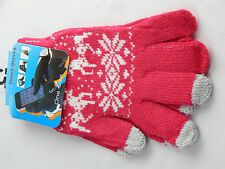 WOMEN LADY MEN KNITTED WOOLY WINTER WARM TOUCH SCREEN GLOVES DIFF COLOR
