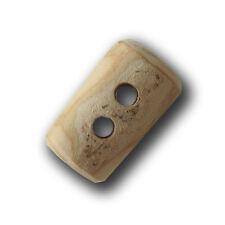 3 kurze Holz Knebel Knöpfe aus Ästen gesägt mit Jahresringen (ho888-17x25mm)
