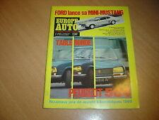 Europe Auto N° 23 Peugeot 504.Alfa 1750 / Triumph 2500 Pi.Fiat 850 S