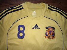 Men's XL adidas CLIMA365 2008-10 Spain Espana Xavi #8 Away Soccer Jersey