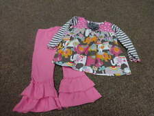 BOUTIQUE SILLY MILLY 4T ELEPHANT TOP PANT SET