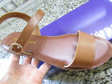 NEW MADDEN GIRL BLURT COGNAC  SANDALS WOMENS 10 STRAPPY FLATS  FREE SHIP