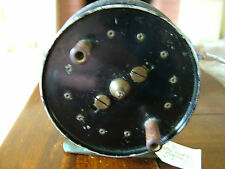 "Vintage Allbern 3 3/4"" Centrepin Fishing Reel. Crackle Finish, Named."