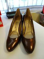 """CONNIE 3.5"""" Heel Womens Shoes Size 9M Brown Bronze Patent NEW"""