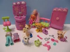 Fashion POLLY POCKET Doll Totally Trendy Paw Salon/Dazzle Sparkle Pets Dog Cat