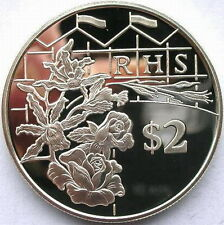 Cayman 2003 Flower 2 Dollars Silver Coin,Proof