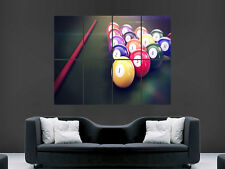 AMERICAN POOL TABLE BALLS CUE  SPORT LARGE  WALL PICTURE POSTER GIANT HUGE ART