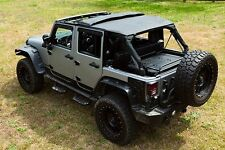 2007-2016 Jeep Wrangler Unlimited Frameless Bowless Soft Top with Hardware Kit