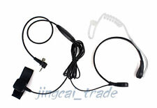 Throat Vibration Mic Acoustic Tube PTT Earphone for Sepura Radio SRP3000 SRH3800