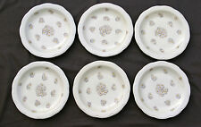6 assiettes plates PORCELAINE DE LIMOGES HAVILAND PATE IVOIRE DECOR MARGUERITES/