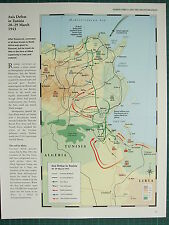 WW2 WWII MAP AXIS DEFEAT IN TUNISIA 20-29 MARCH 1943 ATTACK WITHDRAWAL MOVEMENTS