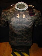 NWT MENS UNDER ARMOUR DIGITAL CAMOUFLAGE COMPRESSION TIGHT SHORT SLEEVE SHIRT XL