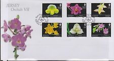 GB - JERSEY 2011 Orchids Series VII SG 1577/82 FDC FLOWERS