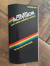 Atari Activision Summer 1982 Game Catalog