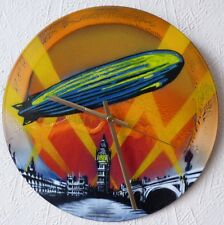 LED ZEPPELIN INSPIRED CLOCK,RADIOHEAD,GONG,PRODIGY,Jimmy Page.yes.SPRAYPAINT ART