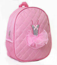 Girl's Quilted Pink Tutu Backpack Dance Bag New