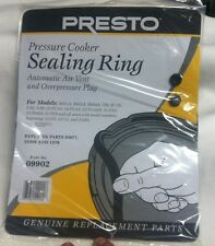 Presto 09902 9902 Pressure Cooker Sealing Ring Gasket & Auto Air Vent & Plug