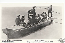 Isle of Wight Postcard - Old Cowes - King Edward VII at Cowes Week c1903   W626