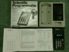 Sinclair Scientific Programmable rare vintage calculator, boxed