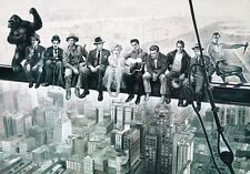 HOLLYWOOD MOVIE STARS LUNCH ATOP SKYSCRAPER  IMAGE A4 POSTER PRINT LAMINATED