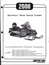 2008 ARCTIC CAT BEARCAT WIDE TRACK TURBO PARTS MANUAL NEW P/N 2257-982  (424)