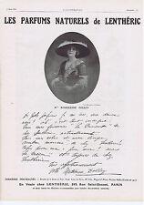 PUBLICITE ADVERTISING 054 1911 Les Parfums Naturels de Lenthéric Melle DOLLEY