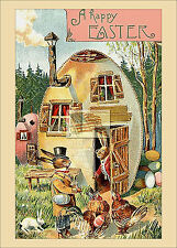 REPRINT PICTURE of older postcard A HAPPY EASTER B 5x7