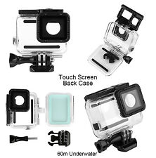 60M Waterproof Housing Case + Touch Screen Backdoor Cover For Gopro Hero 5 Clear