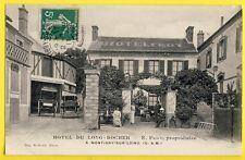 cpa MONTIGNY sur LOING en 1911 Grande Rue HÔTEL FROT Garage OMNIBUS de MONTIGNY