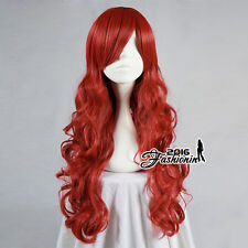 League of Legends Miss Fortune Curly Stylish Red Lady Synthetic Cosplay Hair Wig