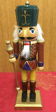 Hand Painted Wooden Nutcracker Soldier  Traditional Christmas  ~ Green Hat 4067