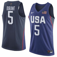 NIKE TEAM USA BASKETALL RIO OLYMPICS REPLICA JERSEY #5 KEVIN DURANT SIZE XL
