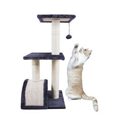 "Modern 28"" Door Cat Tree Tower Condo Scratching Furniture Pet House Wooden"