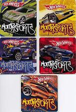 5 x Square Stickers ~ Hot Wheels Fast Cars Motor Sports Rev Head Performance ~