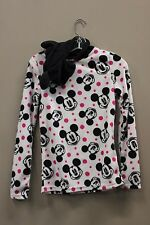 MICKEY MOUSE FLEECE SWEATER WITH EARS ON HOODIE..SIZE: KIDS LADIES MEDIUM